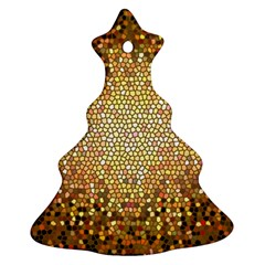 Yellow And Black Stained Glass Effect Ornament (christmas Tree)