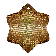 Yellow And Black Stained Glass Effect Snowflake Ornament (two Sides)