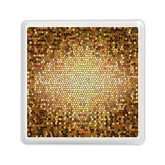 Yellow And Black Stained Glass Effect Memory Card Reader (square)