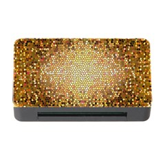 Yellow And Black Stained Glass Effect Memory Card Reader With Cf