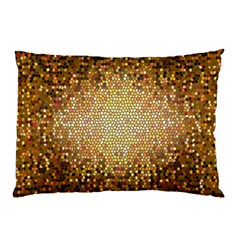 Yellow And Black Stained Glass Effect Pillow Case (two Sides)