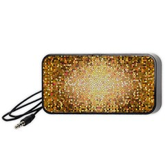 Yellow And Black Stained Glass Effect Portable Speaker (black)
