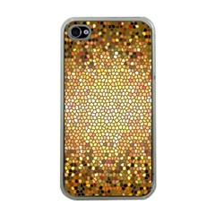 Yellow And Black Stained Glass Effect Apple Iphone 4 Case (clear)