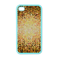 Yellow And Black Stained Glass Effect Apple Iphone 4 Case (color)