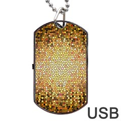Yellow And Black Stained Glass Effect Dog Tag Usb Flash (one Side)