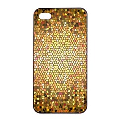 Yellow And Black Stained Glass Effect Apple Iphone 4/4s Seamless Case (black)