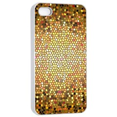 Yellow And Black Stained Glass Effect Apple Iphone 4/4s Seamless Case (white)