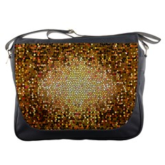 Yellow And Black Stained Glass Effect Messenger Bags