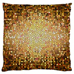 Yellow And Black Stained Glass Effect Large Cushion Case (two Sides)