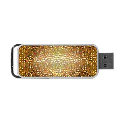 Yellow And Black Stained Glass Effect Portable Usb Flash (one Side)