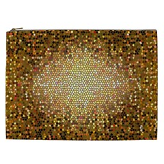 Yellow And Black Stained Glass Effect Cosmetic Bag (xxl)