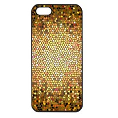 Yellow And Black Stained Glass Effect Apple Iphone 5 Seamless Case (black)