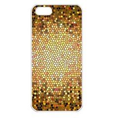 Yellow And Black Stained Glass Effect Apple Iphone 5 Seamless Case (white)