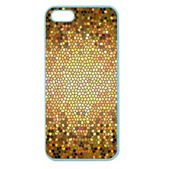 Yellow And Black Stained Glass Effect Apple Seamless Iphone 5 Case (color)