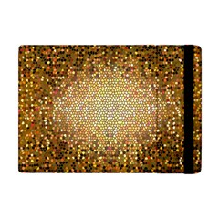Yellow And Black Stained Glass Effect Apple Ipad Mini Flip Case