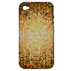 Yellow And Black Stained Glass Effect Apple Iphone 4/4s Hardshell Case (pc+silicone)