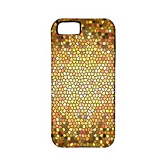 Yellow And Black Stained Glass Effect Apple Iphone 5 Classic Hardshell Case (pc+silicone)