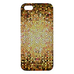 Yellow And Black Stained Glass Effect Apple Iphone 5 Premium Hardshell Case