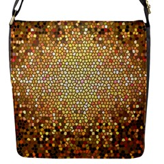 Yellow And Black Stained Glass Effect Flap Messenger Bag (s)