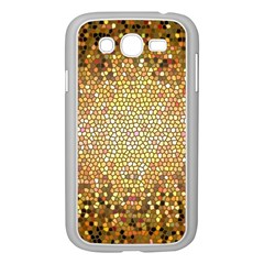 Yellow And Black Stained Glass Effect Samsung Galaxy Grand Duos I9082 Case (white)