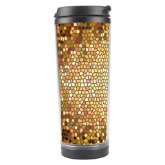Yellow And Black Stained Glass Effect Travel Tumbler