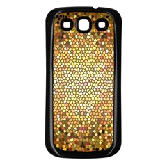 Yellow And Black Stained Glass Effect Samsung Galaxy S3 Back Case (black)