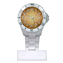 Yellow And Black Stained Glass Effect Plastic Nurses Watch