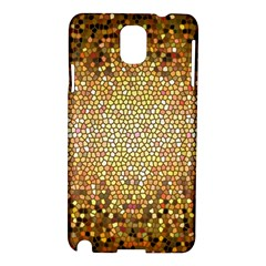 Yellow And Black Stained Glass Effect Samsung Galaxy Note 3 N9005 Hardshell Case