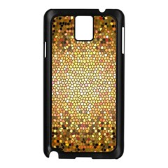Yellow And Black Stained Glass Effect Samsung Galaxy Note 3 N9005 Case (black)