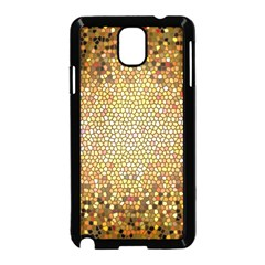 Yellow And Black Stained Glass Effect Samsung Galaxy Note 3 Neo Hardshell Case (black)
