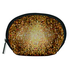Yellow And Black Stained Glass Effect Accessory Pouches (medium)