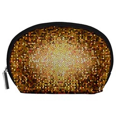 Yellow And Black Stained Glass Effect Accessory Pouches (large)