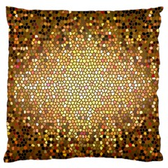 Yellow And Black Stained Glass Effect Large Flano Cushion Case (one Side)