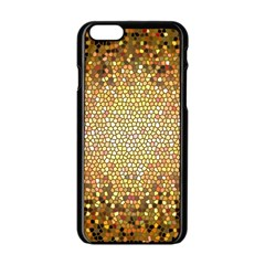 Yellow And Black Stained Glass Effect Apple Iphone 6/6s Black Enamel Case