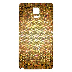 Yellow And Black Stained Glass Effect Galaxy Note 4 Back Case