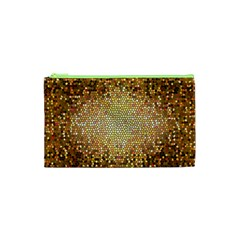Yellow And Black Stained Glass Effect Cosmetic Bag (xs)