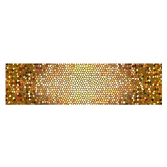 Yellow And Black Stained Glass Effect Satin Scarf (oblong)