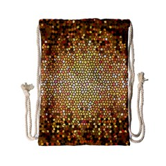 Yellow And Black Stained Glass Effect Drawstring Bag (small)