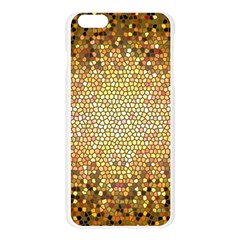 Yellow And Black Stained Glass Effect Apple Seamless iPhone 6 Plus/6S Plus Case (Transparent)