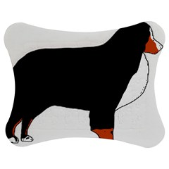 Bernese Mountain Dog Silhouette Rust Jigsaw Puzzle Photo Stand (Bow)