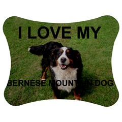 Bernese Mountain Dog Love W Pic Jigsaw Puzzle Photo Stand (Bow)