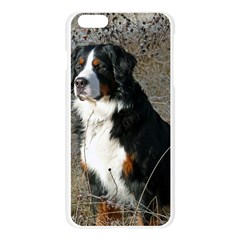 Bernese Mountain Dog Sitting Apple Seamless iPhone 6 Plus/6S Plus Case (Transparent)