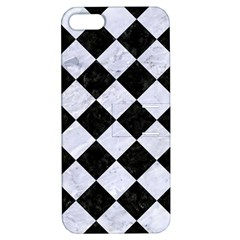 Square2 Black Marble & White Marble Apple Iphone 5 Hardshell Case With Stand