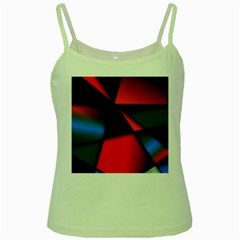 3d And Abstract Green Spaghetti Tank