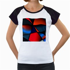 3d And Abstract Women s Cap Sleeve T