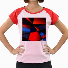 3d And Abstract Women s Cap Sleeve T-Shirt