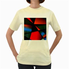 3d And Abstract Women s Yellow T-Shirt
