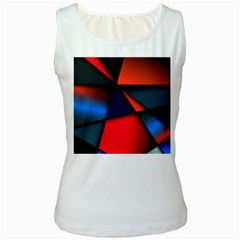 3d And Abstract Women s White Tank Top