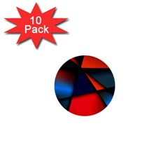 3d And Abstract 1  Mini Buttons (10 pack)