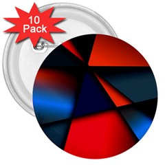 3d And Abstract 3  Buttons (10 pack)